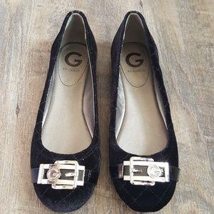 G by Guess Shoes - G by Guess Black Velvet Ballerina Flats Sz 7 31f501c574